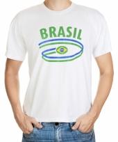 Brazilie vlaggen t-shirts voor heren