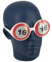 Bril 16 jaar verkeersbord