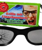 Bril met kapotte lens