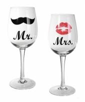 Bruidspaar wijnglazen 2st