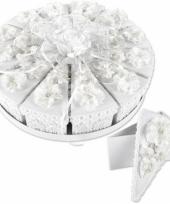 Bruidstaart kado doosjes wit