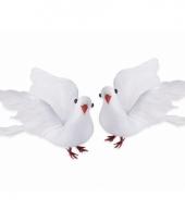 Bruiloft decoratie duifjes 20 cm