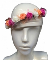 Bruiloft haarbandje met bloemen