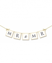 Bruiloft versiering mini slinger mr mr