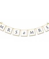 Bruiloft versiering mini slinger mrs mrs