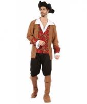 Bruin rode piraten pakken voor heren
