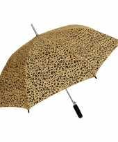 Bruin zwarte luipaardprint paraplu 80 cm