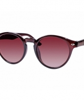 Bruine dames zonnebril ronde glazen model 7001