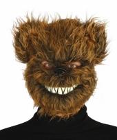 Bruine horror beren masker voor volwassenen