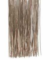 Bruine kerstversiering folie slierten 50 cm