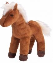 Bruine paarden knuffel donkerbruin 20 cm