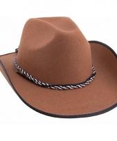 Bruine western hoed