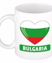 Bulgaarse vlag hart mok beker 300 ml