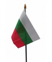 Bulgarije luxe zwaaivlaggetje polyester