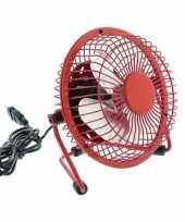 Bureau ventilator rood 15 cm