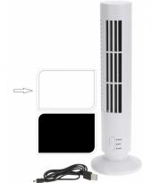 Bureau ventilator toren wit met usb aansluiting