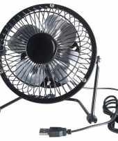 Bureau ventilator zwart 15 cm
