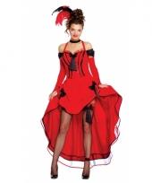 Burlesque thema jurk rood 10064087