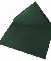 C6 enveloppen donkergroen 5x