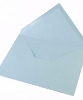 C6 enveloppen in het lichtblauw 5x