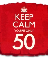 Cadeau ballon keep calm your 50