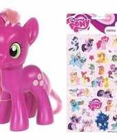 Cadeau my little pony speelgoed paardje cheerilee met stickertjes