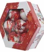 Cadeaubox kerstman kerstballen 7 stuks 7 5 cm