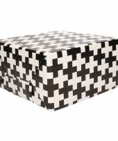 Cadeaupapier zwart wit met patroon 70x200 cm