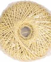 Cadeauverpakking goud glitter touw lint 20 meter inpakken verpakken