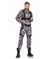 Camouflage parachutist kostuum