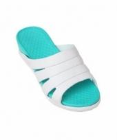 Camping slippers zeeblauw