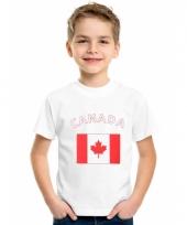 Canadees vlaggen t-shirts voor kinderen