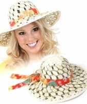 Caribische hoed van riet