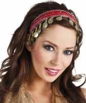 Carnaval esmeralda buikdanseres hoofdband rood voor dames