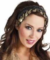 Carnaval esmeralda buikdanseres hoofdband zwart voor dames