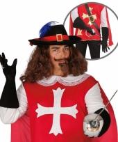 Carnaval handschoenen musketier mannen