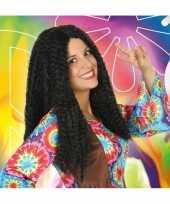 Carnaval hippie flower power pruik voor dames 10132695