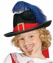 Carnaval hoed musketier kind