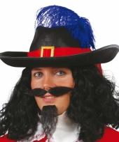Carnaval hoed musketier mannen