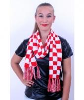 Carnaval sjaals rood met wit