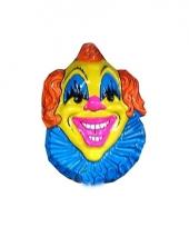 Carnaval wanddecoratie clown geel 10078434