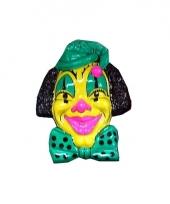 Carnaval wanddecoratie clown geel