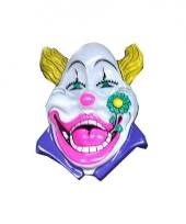 Carnaval wanddecoratie clown wit