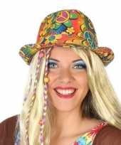 Carnavalaccessoires hippie hoed voor volwassenen