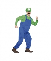 Carnavalkostuum loodgieter groen