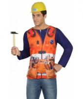 Carnavalskleding bouwvakker shirt