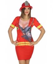 Carnavalskleding brandweer shirt 10078282