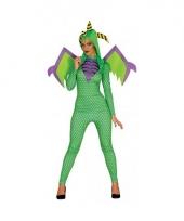 Carnavalskleding draak kostuum voor dames