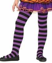 Carnavalskleding halloween paars zwarte heksen panties maillots verkleedaccessoire voor meisjes
