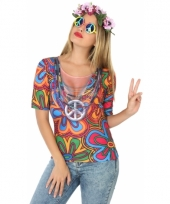 Carnavalskleding hippie shirt 10078275